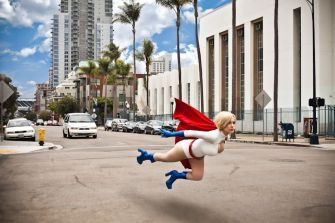 Power Girl cosplay big tits sexy Crystal Graziano (2)