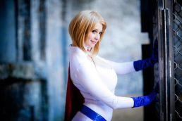 Power Girl cosplay sexy big tits Ardella Cosplay (5)