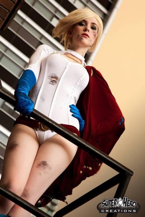 Power Girl cosplay Eve Beauregard (Australia)
