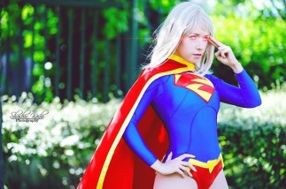 Supergirl cosplay sexy gata Clef's Atelier, La Petite Feuille (10)