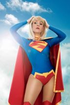 Supergirl cosplay sexy gata Clef's Atelier, La Petite Feuille (12)