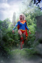 Supergirl cosplay sexy gata Clef's Atelier, La Petite Feuille (13)
