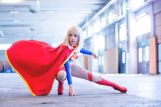 Supergirl cosplay sexy gata Clef's Atelier, La Petite Feuille (8)