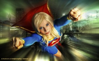 supergirl cosplay sexy gata enji night (4)