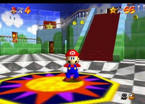 Super Mario 64 - Revolucionou a jogabilidade 3D em Terceira Pessoa
