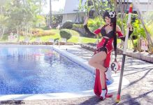 Cosplay Ashe league of legends Azulette