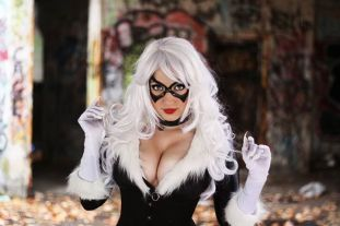 Cosplay black cat Jaycee cosplay gata negra