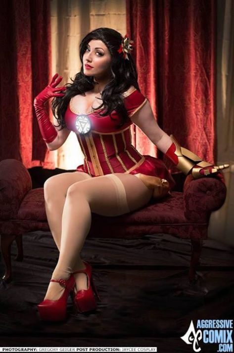 Cosplay Jaycee iron man pin up