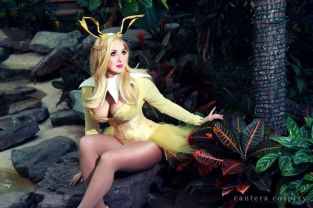 Cosplay Jaycee Jolteon pokemon pin up sexy pokemon gostosa (2)