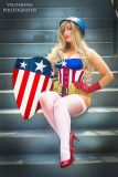 Cosplay Jaycee pin up captain america gata sexy capitão america (12)