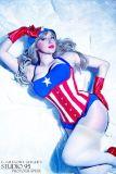 Cosplay Jaycee pin up captain america gata sexy capitão america (15)