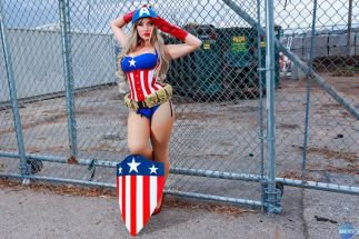 Cosplay Jaycee pin up captain america gata sexy capitão america (2)