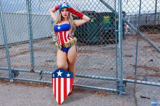 Cosplay Jaycee pin up captain america gata sexy capitão america (2)