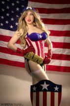 Cosplay Jaycee pin up captain america gata sexy capitão america (3)