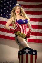 Cosplay Jaycee pin up captain america gata sexy capitão america (3)