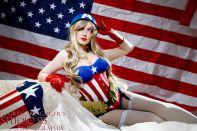 Cosplay Jaycee pin up captain america gata sexy capitão america (5)
