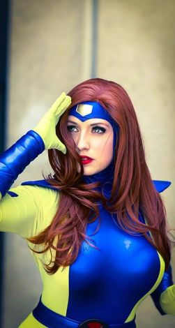 Cosplay Jean Grey Jaycee X-men gata sexy (2)
