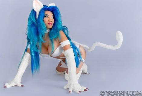 Felicia Darkstalkers cosplay yaya han