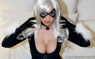 gata negra cosplay yaya han black cat