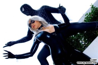 gata negra cosplay yaya han black cat spider man cosplay