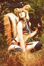 Makoto BlazBlue cosplay Nana Kuronoma sexy