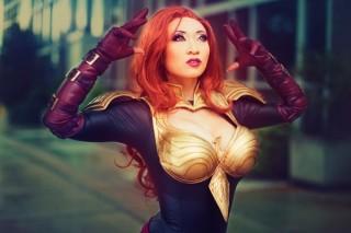 Phoenix Force Marvel cosplay yaya han sexy (1)