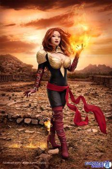 Phoenix Force Marvel cosplay yaya han sexy (2)