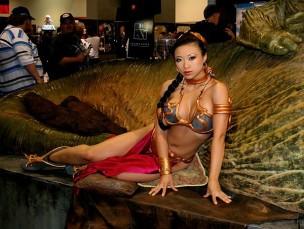 slave Leia cosplay yaya han princesa leia