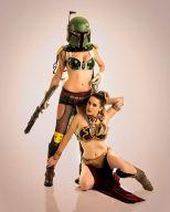 Boba Fett lady jaded cosplay feminine + leia escrava Wild Kat slave leia