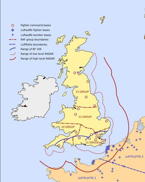 Mapa da Batalha da Inglaterra
