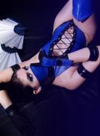 Cosplay Kitana sexy Ju Tsukino gata