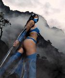 Kitana Cosplay sexy Mikela-Frost gostosa