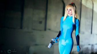 Samus Aran zero suit cosplay Battle Maiden Katsumiyo