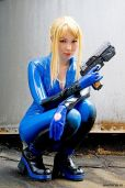 Cosplayer PixelNinja Samus Zero Suit (Metroid)