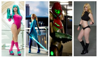 Samus Metroid Cosplay wall