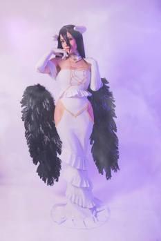 Cosplay Katyuska Moonfox albedo overlord cosplay sexy (1)