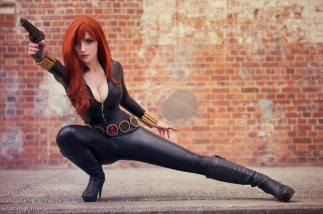 Katyuska MoonFox black widow cosplay viuva negra gata sexy