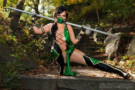Jade cosplay sexy Elena Blueskies gostosa