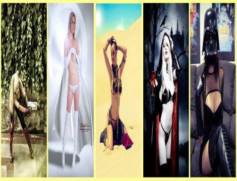 lady jaded cosplay wall