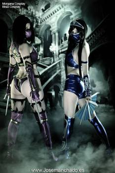 Mileena Cosplay gostosa Morgana sexy body Illisia Cosplay Kitana sexy