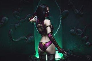 Mileena cosplay sexy AsherWarr big tits