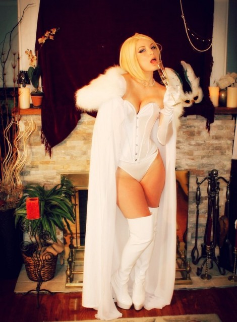 emma frost sexy cosplay corset cosplaybutterfly