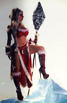 Luna Lanie cosplay Snow nidalee sexy league of legends