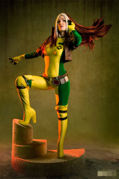 rogue cosplay studiozahora Justyna J vampira cosplay gostosa