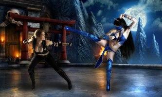 Sonya Blade cosplay sexy Okani big tits kitana cosplay
