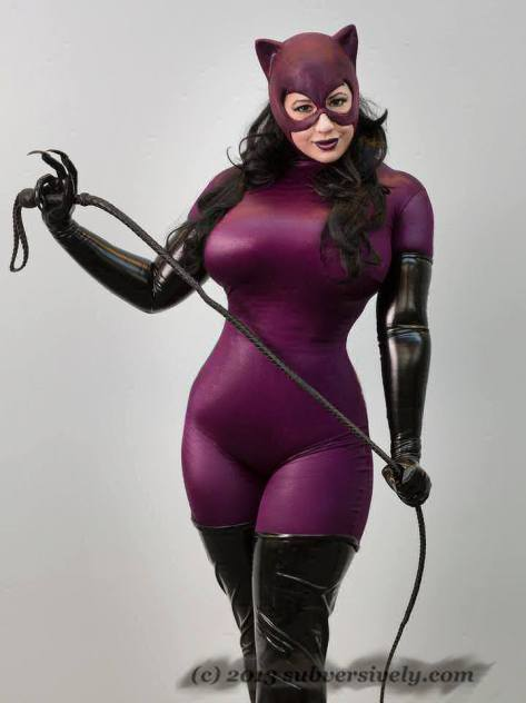 BelleChere sexy big butt boobs Cosplay Catwoman Mulher Gato Jim Balent version