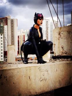 catwoman cosplay mulher gato sexy starship gostosa