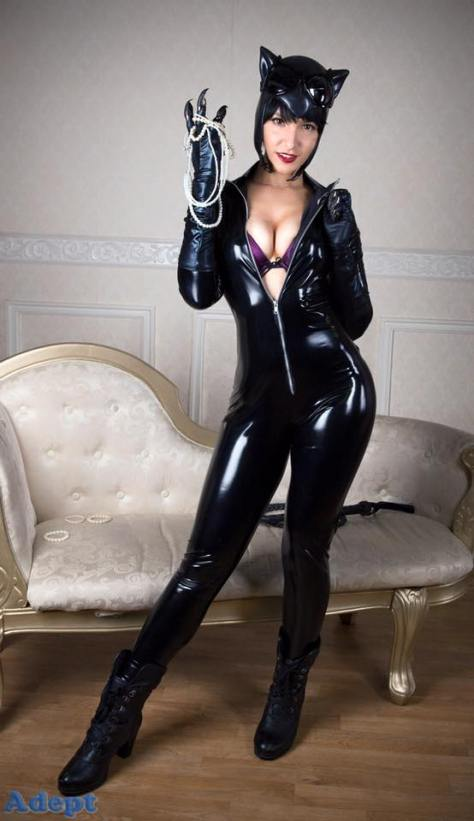 catwoman Cosplay mulher gato sexy Tenleid gostosa
