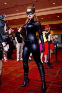 Catwoman Cosplay Nicole Marie Jean mulher gato sexy linda