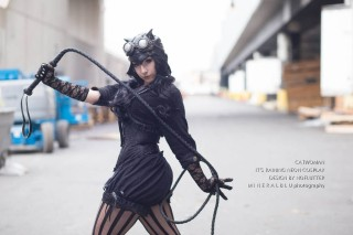 cosplay mulher gato catwoman steampunk cosplay Its Raining Neon